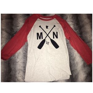 MN Red and White Paddle Long Sleeve